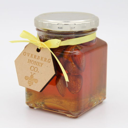 Raw bluegum honey with almonds