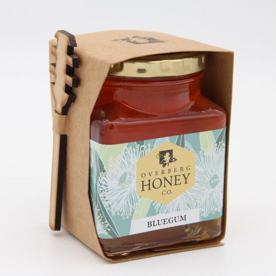 Raw bluegum honey with spoon