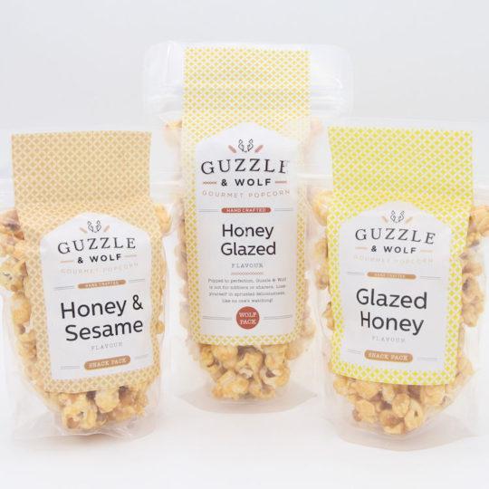Guzzle & Wolf gourmet popcorn range