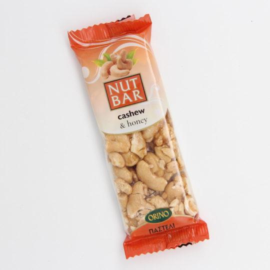 Orino nut bar with cashew & honey