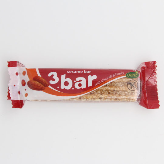 Orino sesame bar with almonds & honey