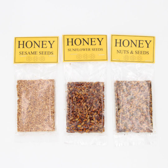 Honey seed snacks range